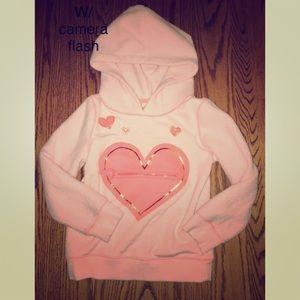 ✨CAT & JACK (Target) Worn 1X Zipper Heart Hoodie